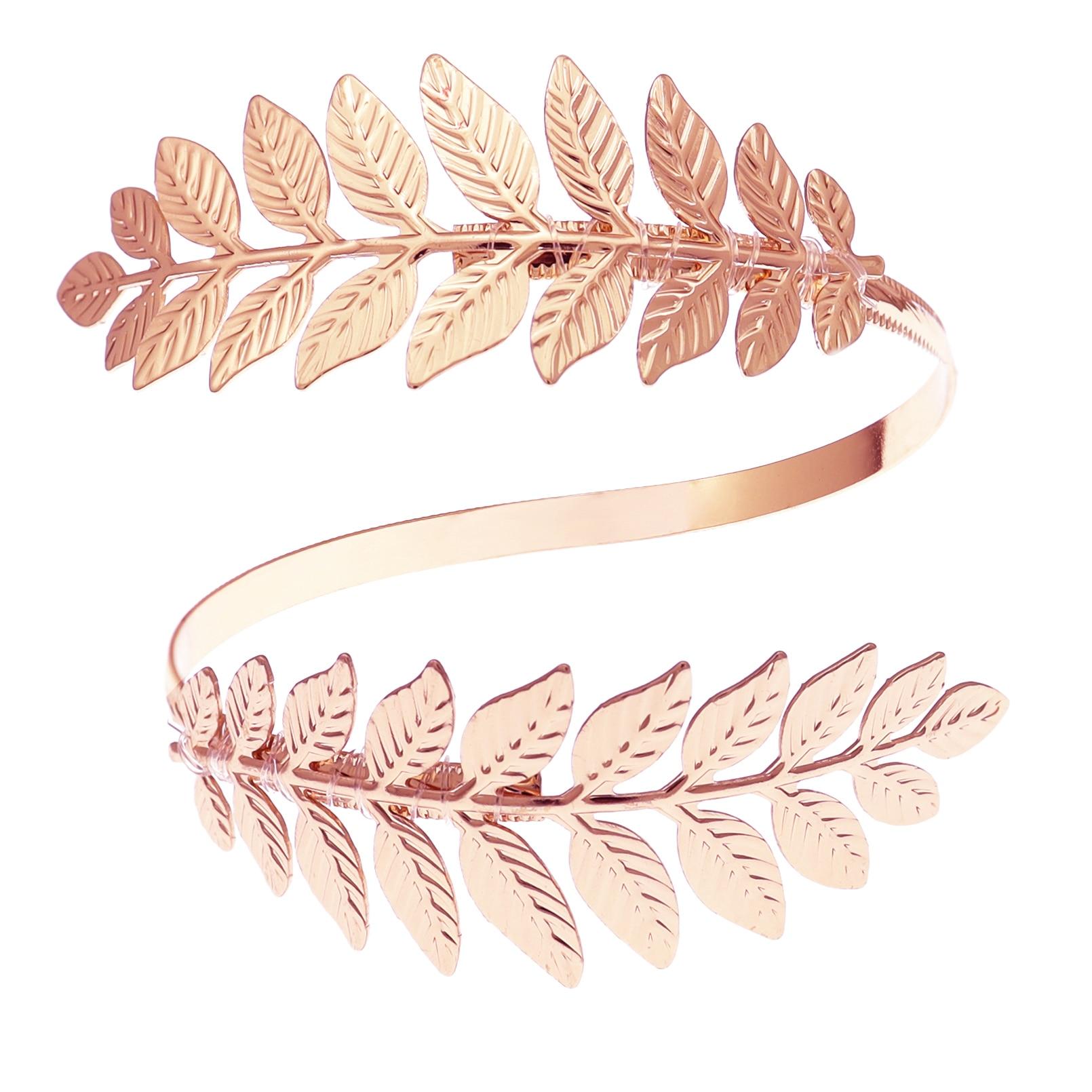 H78d5b48b63654735b33984160fd84b78W Prata banhado a ouro grego folha de louro pulseira braçadeira braço superior manguito armlet festival nupcial dança do ventre jóias
