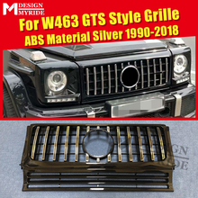 W463 Grille GT Grills Fit For MercedesMB G Class Sports G500 G550 1:1 Replacement Front ABS Silver Without sign 1990-2018