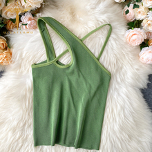 Sexy Cross Camis Slim Female Camisole Summer Hollow Out Streetwear Sleeveless Crop Top Solid Color Cotton Basic Women Camisole