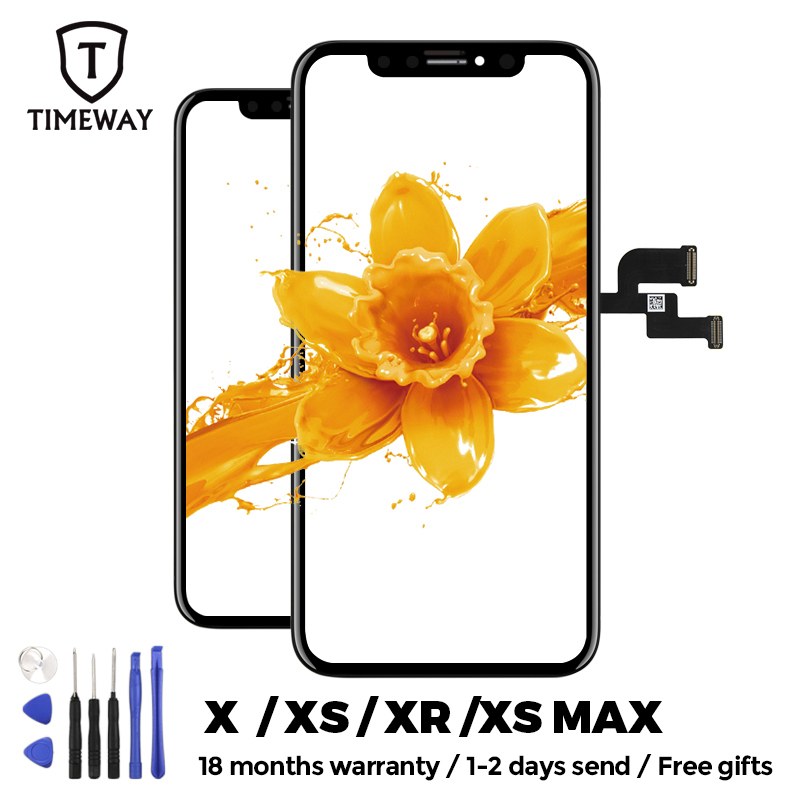 For iphone X XS Max XR LCD Display For Tianma OLED OEM Mobile Phone Screen Digitizer For iphone X LCD Assembly Black with Gift(China)