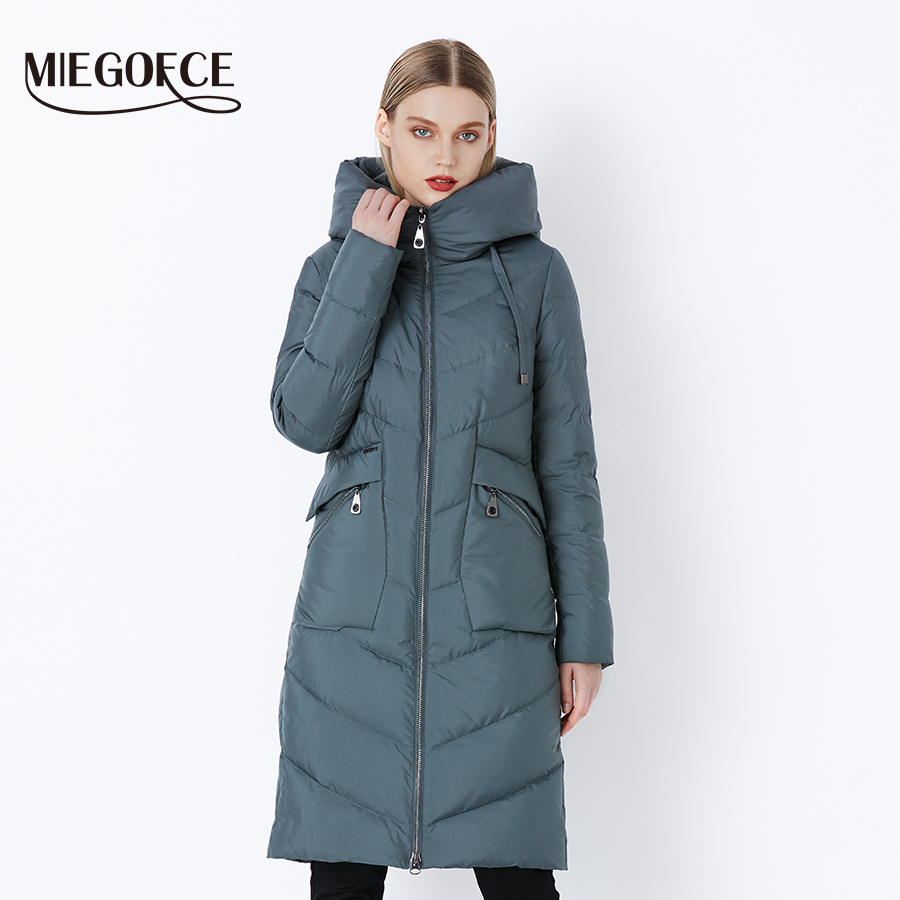 MIEGOFCE 2019 New Long Winter Women's Jacket Coat Thickening Windproof Women's Parkas Fashion Women Bio Down Jacket Parkas