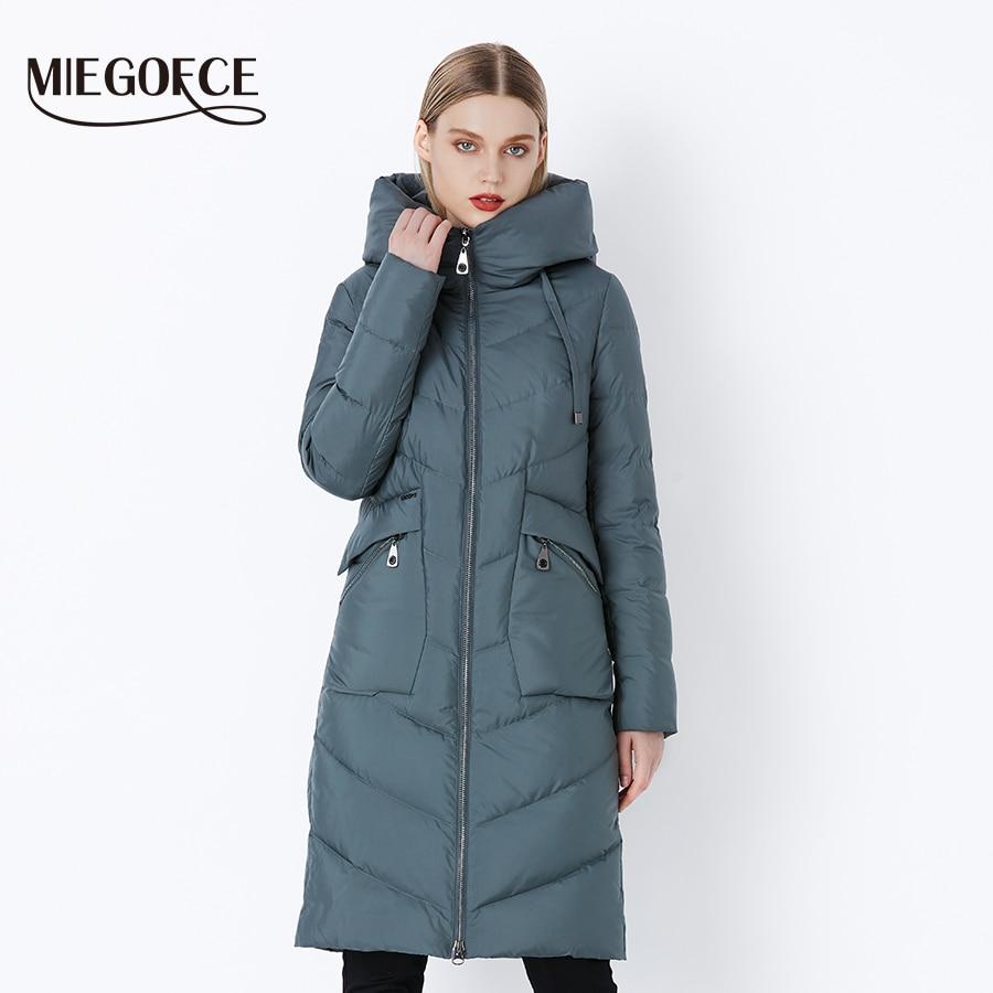 MIEGOFCE 2019 New Long Winter Women's Jacket Coat Thickening Windproof Women's Parkas Fashion Women Bio Down Jacket Parkas