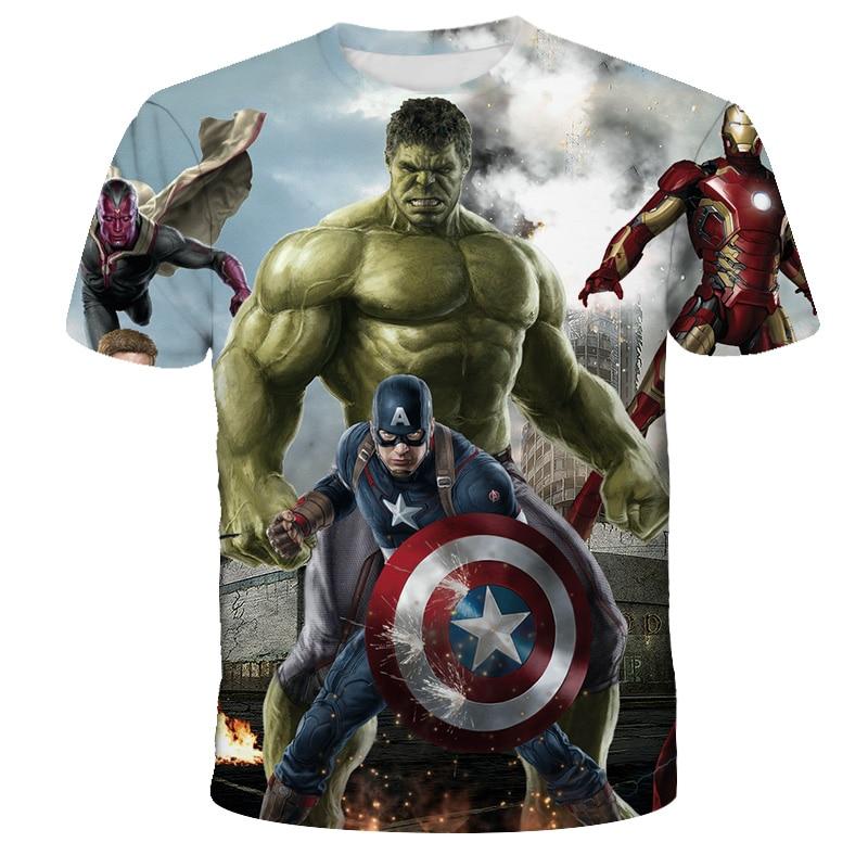 Новинка 2021, летняя футболка 3D Халк, Повседневная Уличная футболка для мальчиков и девочек, модная детская футболка с принтом, крутая футболк...