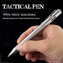 Quality portable stainless steel tactical pen and silicon carbide for glass breaker emergency EDC tool ballpoint pen