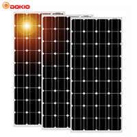 Dokio 100w Monocrystalline Tempered Glass Solar Panel For Home Waterproof Anti-small Hail 25 Year Shelf Life High Quality