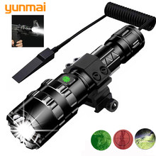 LED Flashlight Tactical powerful Rechargeable Xlamp L2 Waterproof Torch Scout lanterna Hunting light 5 Modes use 18650 battery(China)