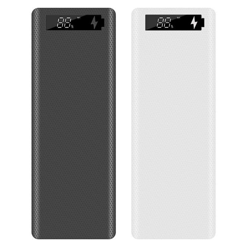 LCD Display DIY 10x18650 Battery Case Power Bank Shell Portable External Box without Battery Powerbank Protector