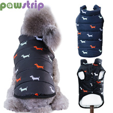 Fashion Print Dog Coat Winter Jacket Warm Small Clothes Pets Vest For Chihuahua French Bulldog Puppy Outfits Cat