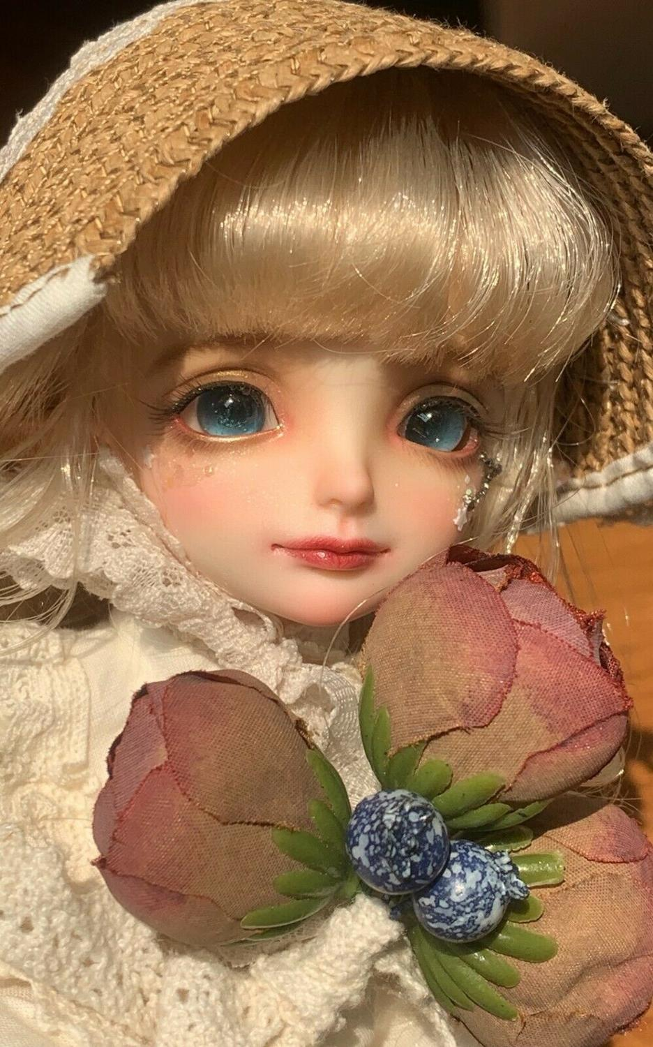 BJD Mini Doll Little 1//8 Unpainted Bare Doll without Any Make Up Resin Toy