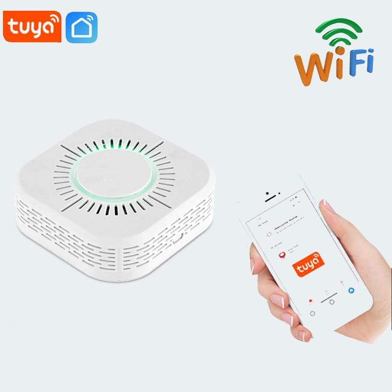 Tuya WiFi Smoke Alarm Fire Protection Smoke Detector Smokehouse Combination Fire Alarm Home Security Smoke Alarm Sensor Detector