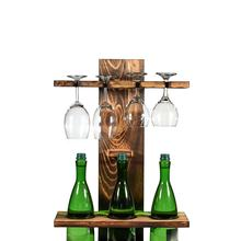 Cup-Stand-Holders Wine-Racks Storage Wood Wall Solid Organizer Bottle Can-Be-Hung-Hanger