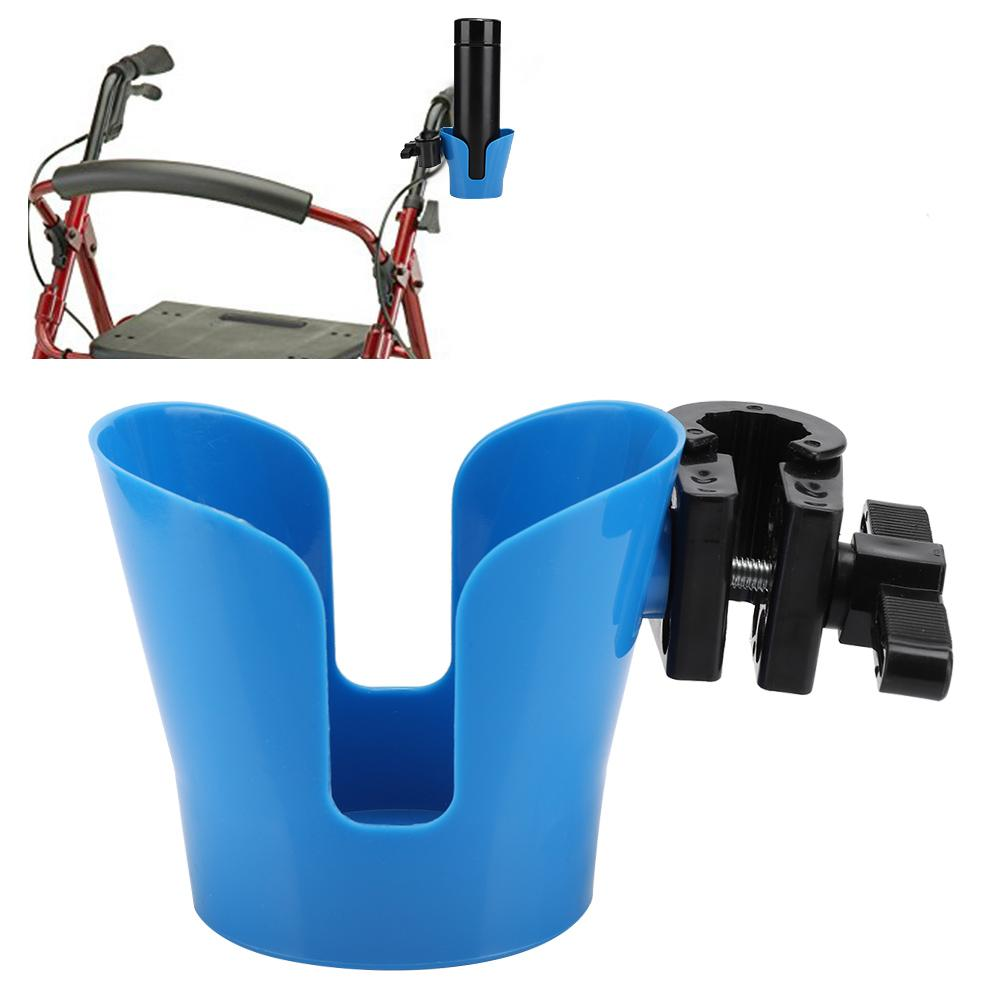 Easy To Use Rotating Durable Trolley Cup Cart Elderly Baby Walker Pushchair Stroller Wheelchair Cup Holder Bottle Storage Rack