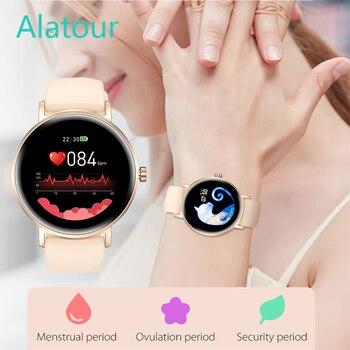 Mulher relógio inteligente tempo real previsão do tempo atividade rastreador monitor de freqüência cardíaca esportes senhoras relógio inteligente masculino para android ios 1