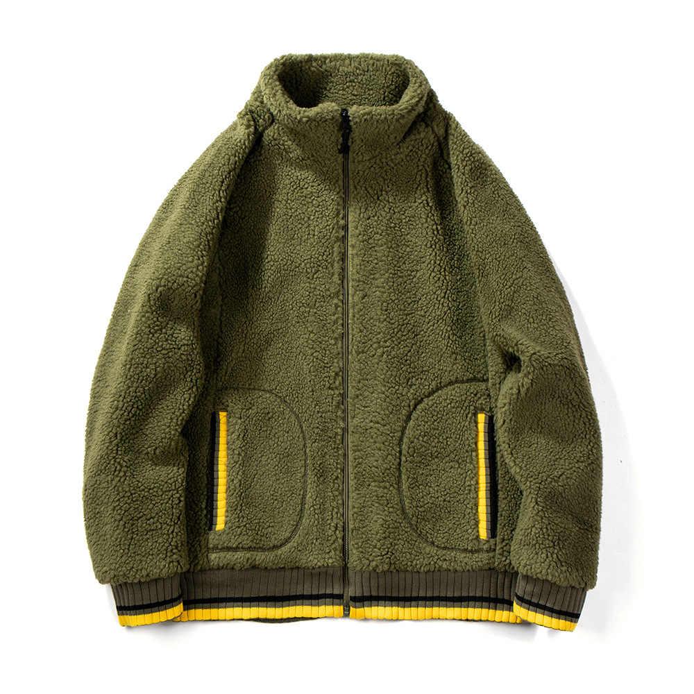 MRMT 2020 브랜드 가을, 겨울 남성 자 켓 느슨한 카디 건 양고기 코트 남성 캐시미어 스웨터 따뜻한 자 켓 의류