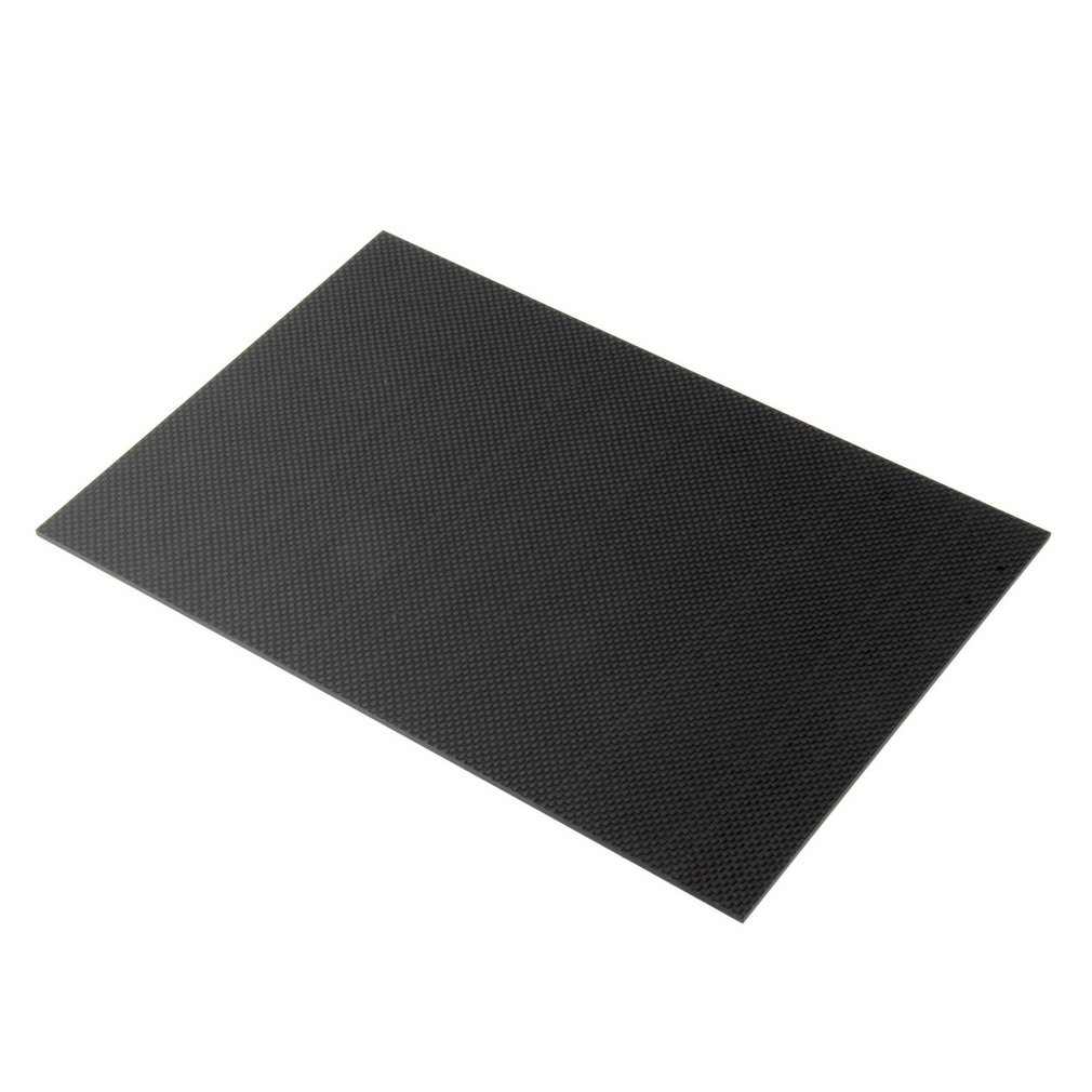 Wholesale Black 100% Carbon Fiber Plate 200x300x3mm With Both Sides Gloss Surface