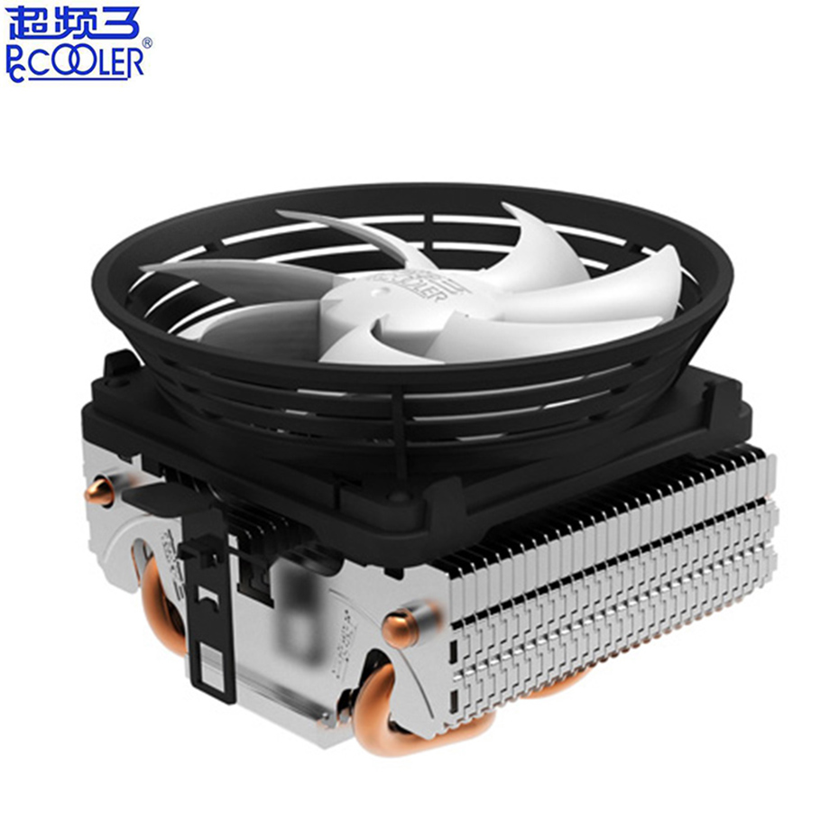 Pccooler V4 2 Heat pipe <font><b>CPU</b></font> Cooler Radiator 10cm quiet <font><b>fan</b></font> For AMD AM3 AM2 Intel LGA <font><b>775</b></font> 1151 1150 1155 1156 <font><b>CPU</b></font> Cooling <font><b>fan</b></font> image
