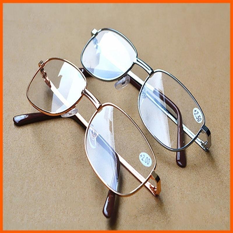Men Women Reading Glasses Full Alloy Frame Resin Lens Comfy Light Clear Presbyopia Glasses +1.0 1.5 2.0 2.5 3.0 3.5 4.0