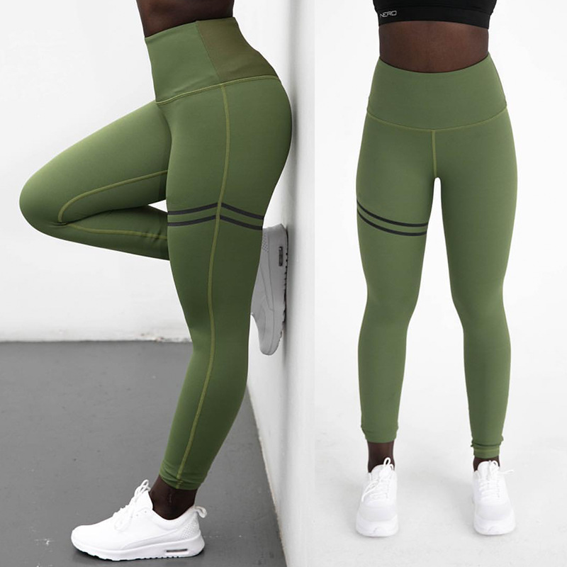 -Legs Two Ring Joint Tight-Fit Athletic Pants Women's Elasticity Slimming Quick-Dry Four Needle Six Line Fitness Pants K195