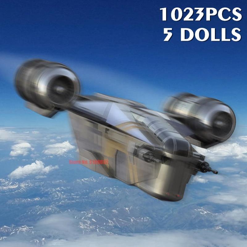 NEW Star Space Wars Heavy Assault Walker AT-M6 Figures Razor Crest X-wing Model 75292 Building Block Brick Kid Toy Gift