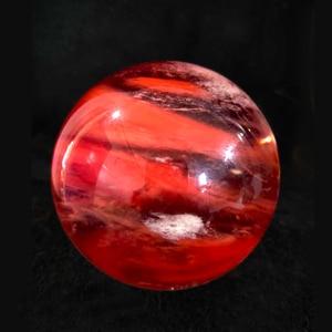 Image 5 - الحجر الطبيعي الصهر الأحمر الجميل مزين كرة من الكوراتز مكتب المنزل لالهالة الهالة شفاء حجر الطاقة