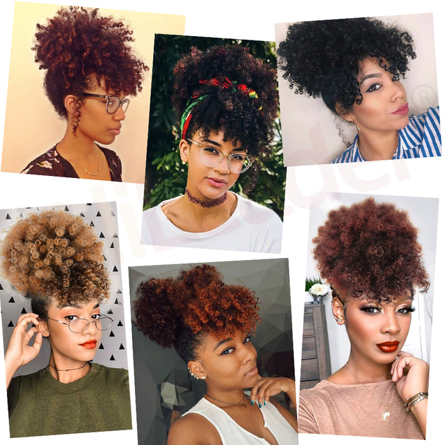 Alileader New Curly Bangs Synthetic Kinky Curly Hair Bangs Short Clip On Hair Extentions Adjustable Fringe Hair Piece For Women|Synthetic Bangs|   -