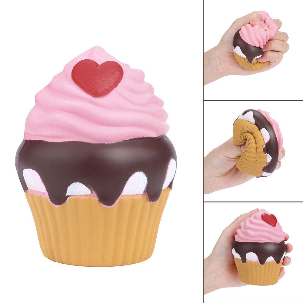 Squishy Cup Cake Toy Ice Cream Scented Charm Slow Rising Collection Squeeze Stress Reliever Toys Simulation Toy L113