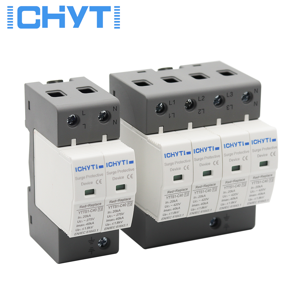 ICHTYI Top quality SPD AC 4P 275V 385V 420V surge protector lightning protection surge arrester surge protective device