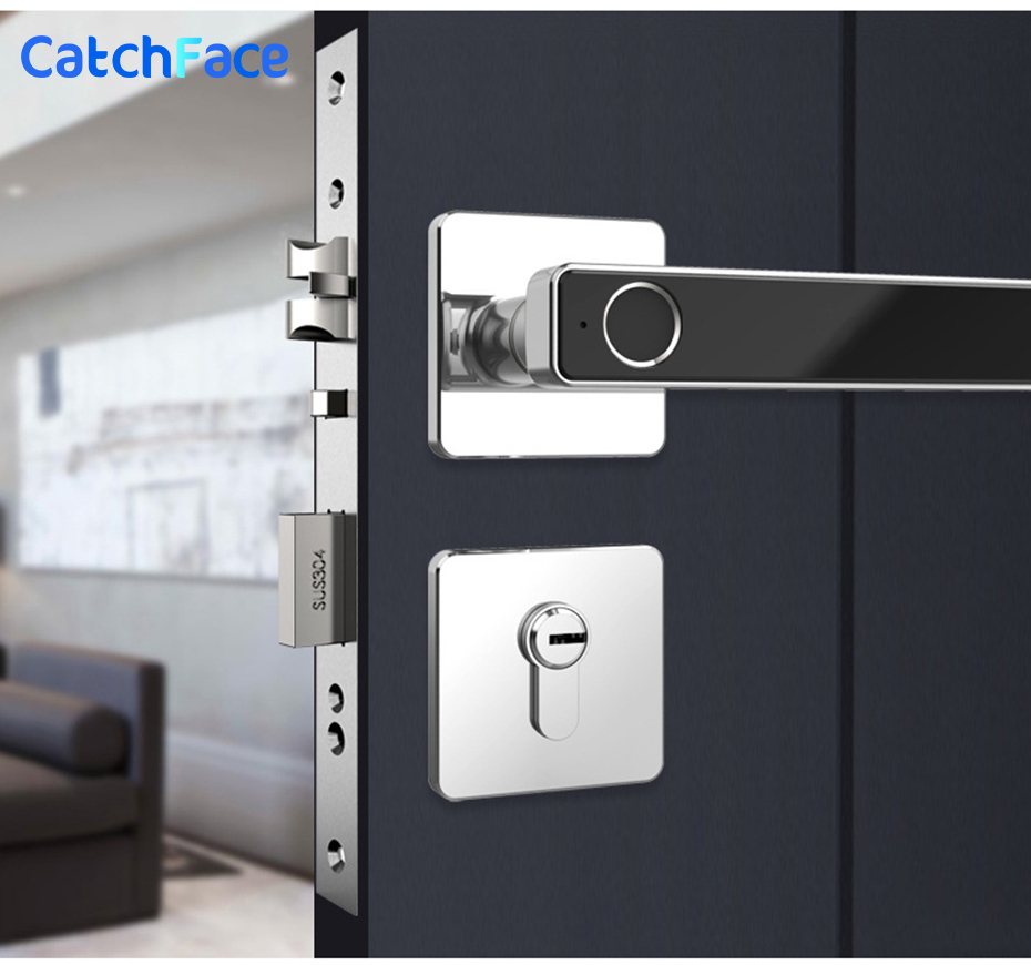 Biometric Fingerprint Smart Lock  Digital Keyless Electronic Door Lock  Unlock By Fingerprint And Key For Home Office Security