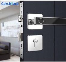 Biometric Fingerprint Smart Lock  Digital Keyless Electronic Door lock  unlock by Fingerprint and key for Home Office Security
