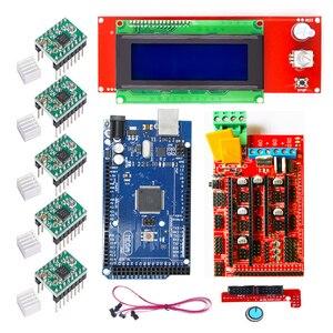 Image 4 - CNC 3D Printer Kit for Arduino Mega 2560 R3 + RAMPS 1.4 + LCD 2004 +A4988 Stepper Driver