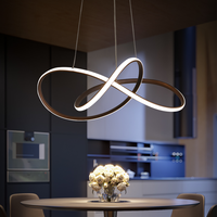 VEIHAO Black White Modern led chandelier for dining room kitchen room home decorative hanging chandelier fixtres free shipping