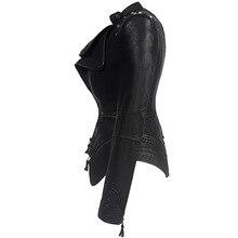 Южная Корея закупочных торговых агентов женское платье стиль в стиле «Вестерн»; Стиль Болеро заклепки Slim Fit талии облегающие промытая кожа Loc