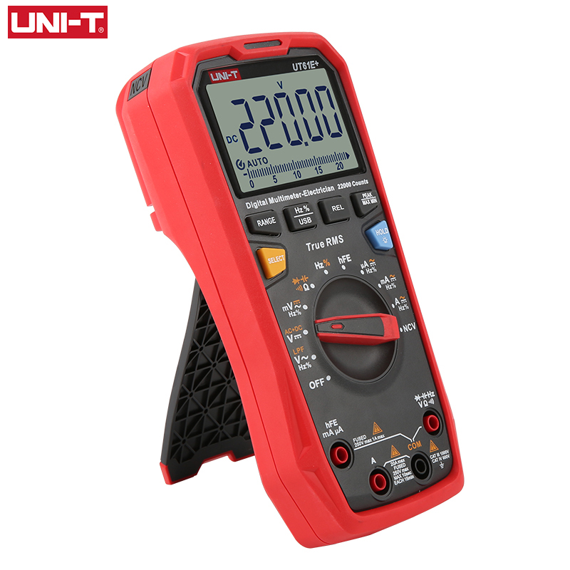 Display Capacitance RMS Range Auto UNI T Testing True UT61E 22000 220mF Multimeter  Meter RMS Unit True Large  Digits  Digital