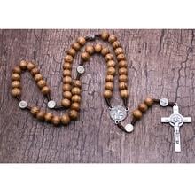 Necklace Catholic Rosary Religious Jewelry Cross-Jesus Bead for Men Pendant Charm Gifts