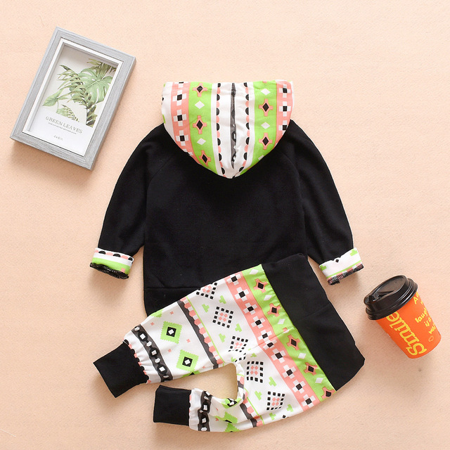 2019 New Winter Newborn Baby Girls Boys Clothes Cotton Christmas Hooded Sweatershirts+Pants 2PCS Outfits Set Baby Clothing Sets 1