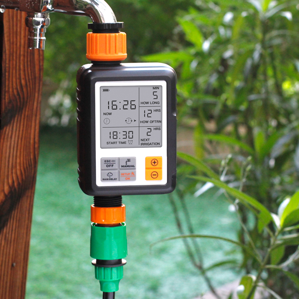 Large Screen Automatic Electronic Water Time Device Outdoor Garden Sprinkler Controller