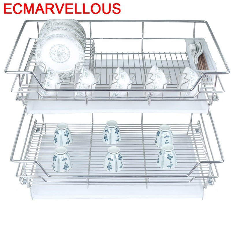 Permalink to Organizador Cocina Cestas Para Organizar Accessories Stainless Steel Rack Cozinha Organizer Kitchen Cabinet Storage Basket