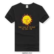 TEEWINING The IT Crowd Roy T Shirt Men Funny T-Shirt The Sun Is Trying To Kill Me Geek Tee
