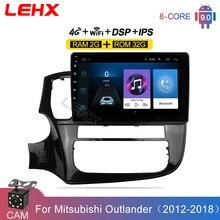 Мультимедийный видеоплеер LEHX, 2 Гб + 32 ГБ, Android 9,0, 4G, навигация GPS для Mitsubishi Outlander 3 GF0W GG0W 2012-2018, автомагнитола