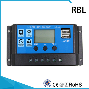 цена на Y-SOLAR PWM 10/20/30A Solar Charge Controller 12/24V Auto With Dual USB a LCD 5V Output Voltage Solar USB Charge solar Regulator