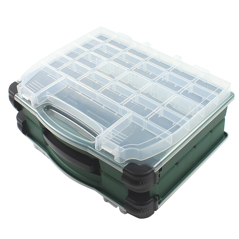 Fishing Tackle Box Double Sided Four Layers Multifunctional Fishing Lure Hook Accessories Storage Case Boxes|Fishing Tackle Boxes| |  - title=