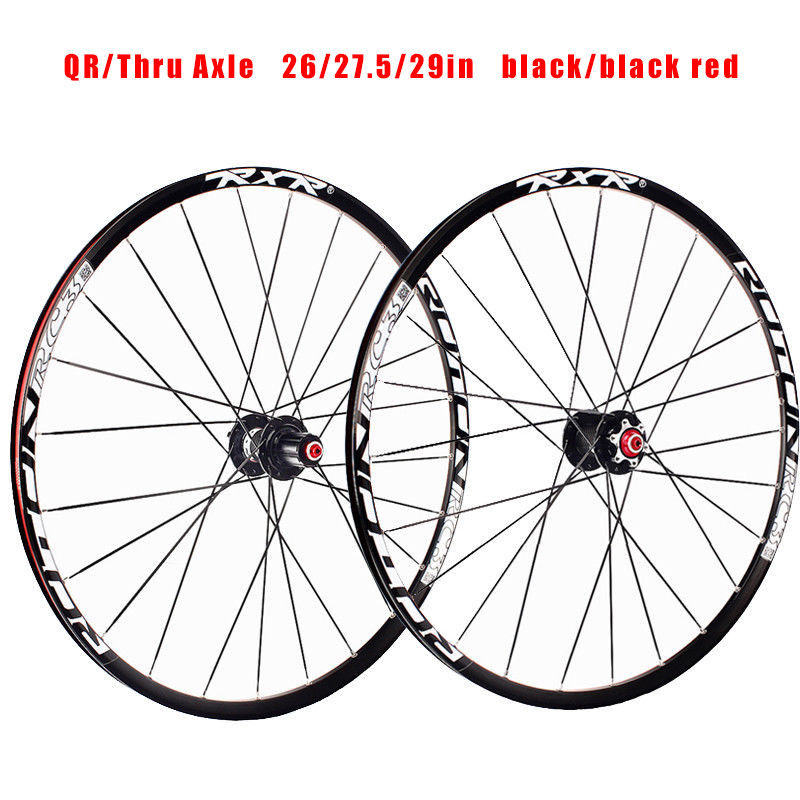 RXR 26//27.5//29 MTB Wheels Cojinetes cubo fibra carbono 25mm Rim Racing Wheelset