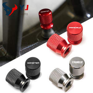 Wheel Tire Valve Caps For DUCATI MONSTER 600 620 848 696 796 1200 1100 SCRAMBLER 400 800 Panigale V4 V4S V4R 1199 959 899 1299