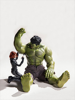 The Avengers USA funny Hulk in toilet Quotes Black White Poster marvel Kids home