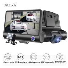 Tospra 2/3 Lensa Kamera 1080P HD Kaca Spion Mobil DVR Dash Cam G-Sensor Rear View 170 Derajat malam Visi Registrator Dashcam(China)