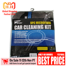 9 delige autowas set Reinigingskit Benodigdheden Microfiber Handdoek Detaillering Autowiel Borstel Waxen Spons Combinatie Reinigingsgereedschap