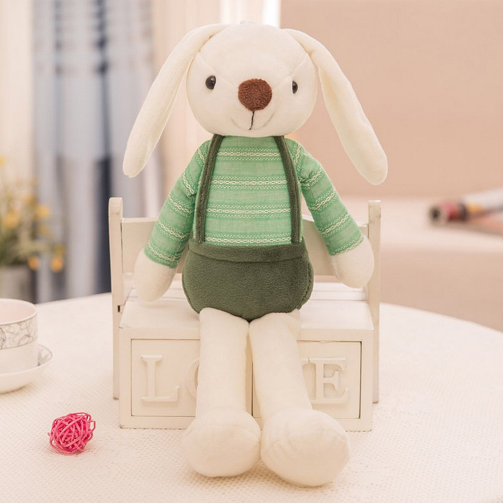 OCDAY Cute Rabbit Doll Plush Animals Stuffed Toys Pets Soft Kids Baby Rabbit Toys For Girls Children Birthday Gift Sleeping Doll