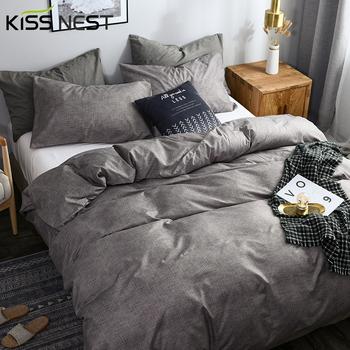 Nordic Solid Color Coco Style tkanina z mikrofibry Twin Size powłoczki kołdra pokrywa 220 #215 240 220 #215 220 1 2 poszewki na poduszki do sypialni tanie i dobre opinie KISS NEST POLIESTER Zestawy poszew na kołdry CN (pochodzenie) Polyester 1 35 m (4 5 stóp) 1 5 m (5 stóp) 1 8 m (6 stóp)