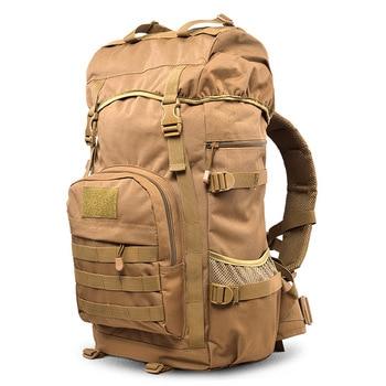 Mochila táctica de gran capacidad de 50L para hombre, morral militar resistente al agua, morral de viaje para escalada, mochila militar