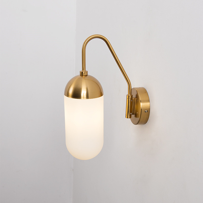 Industrial Gold Wall Sconce Vintage Led Wall Lamp Kitchen Hotel Corridor Light Adjustable lamp Arm Home Deco Lighting Fixtures image